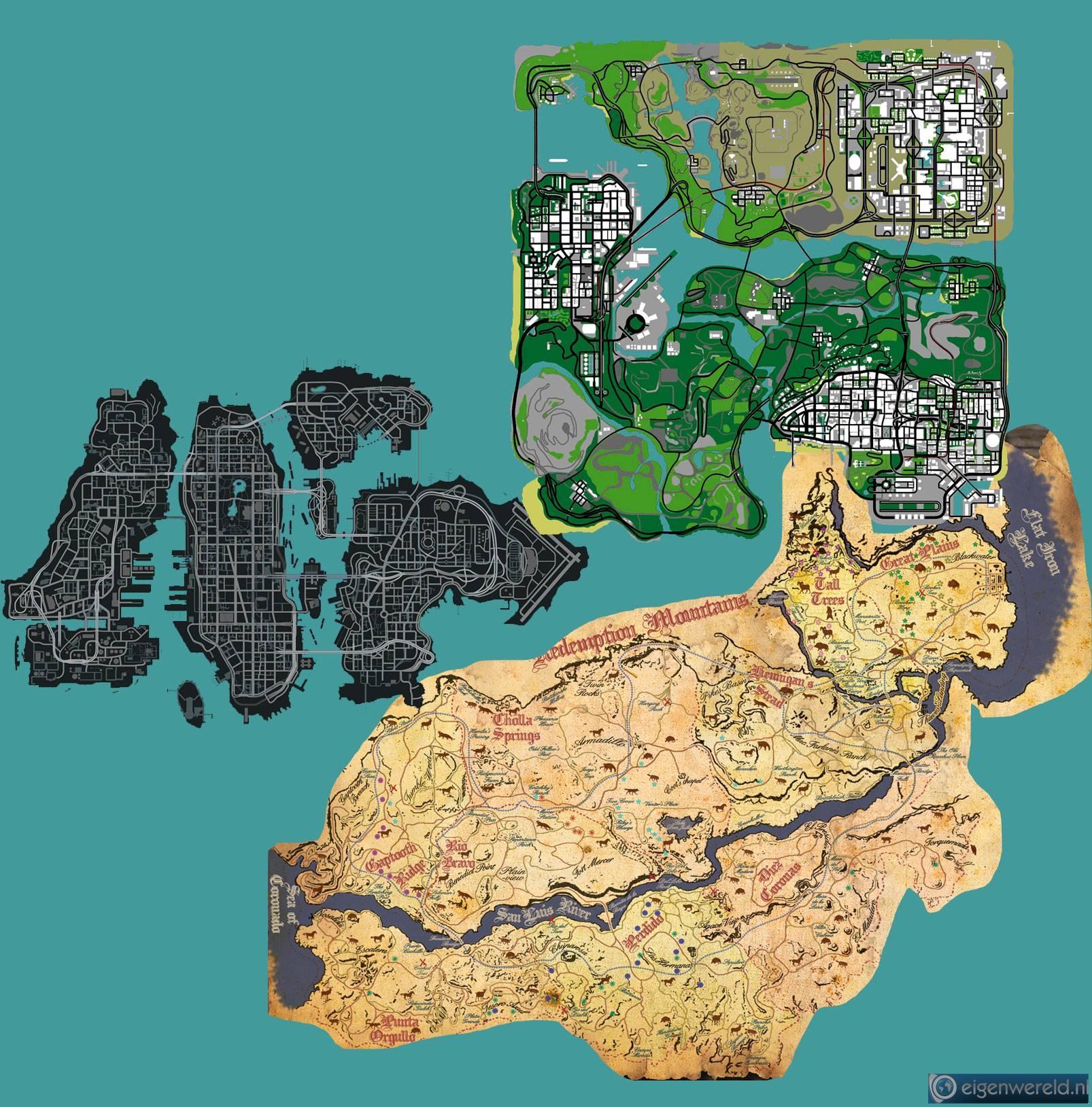 A Closer Look At The GTA 5 Map